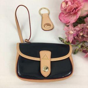 Dooney & Bourke Flap Wristlet Wallet & Key Ring